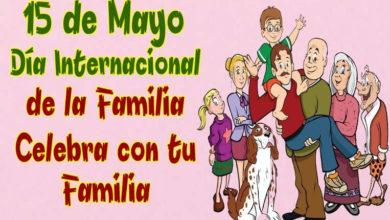 Photo of 15 de mayo, Día internacional de las Familias: ¡GRACIAS POR ESTAR AHÍ!