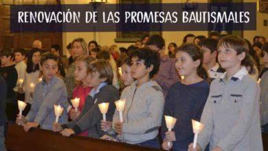 Photo of Celebración de la renovación de las promesas bautismales de los niños de Comunión